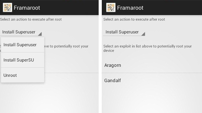 Framaroot Screenshot