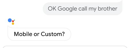 Google Assistant Asking which number