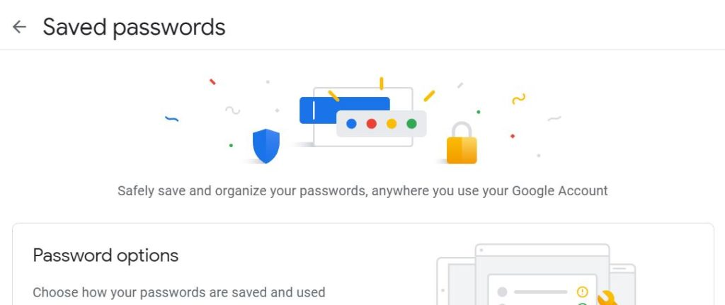 google passwords home page