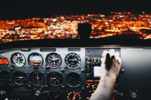 controlling airplane