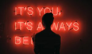 Its you lighted letters in board