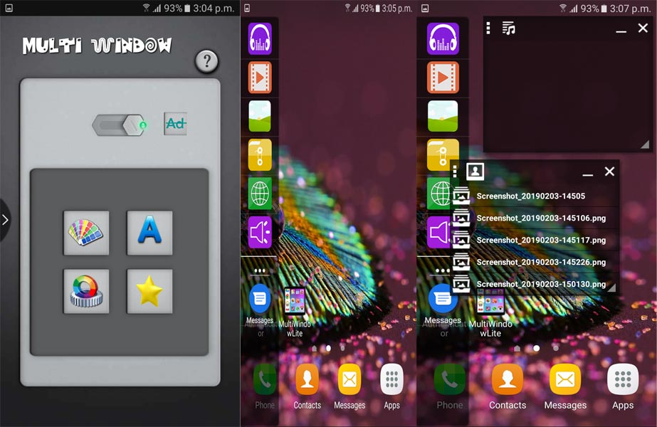 Multi window app screenshots