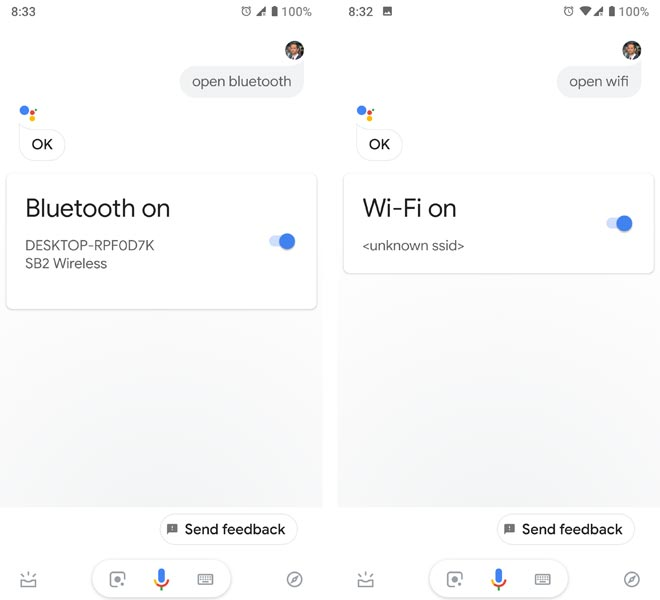 quick settings google assistant