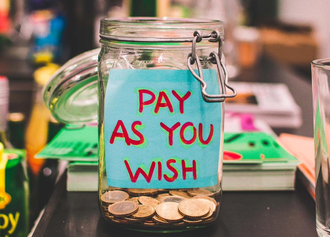 Pay as you wish jar