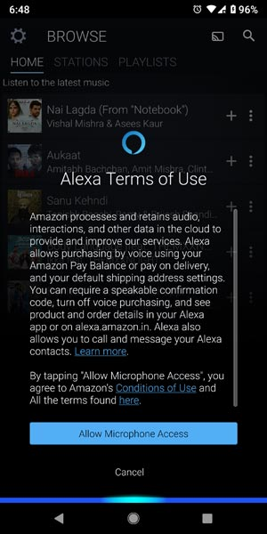 Amazon Music Alexa