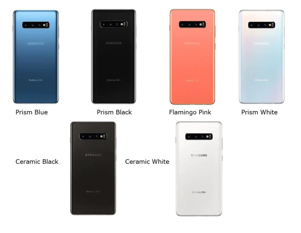 S10 Plus Color Variants