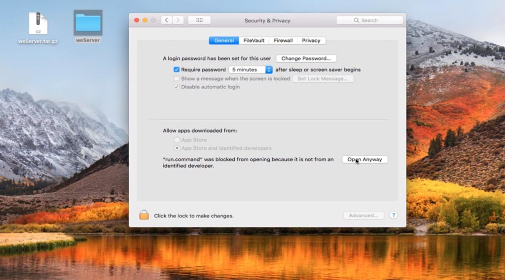 Wemessages app blocked macOS