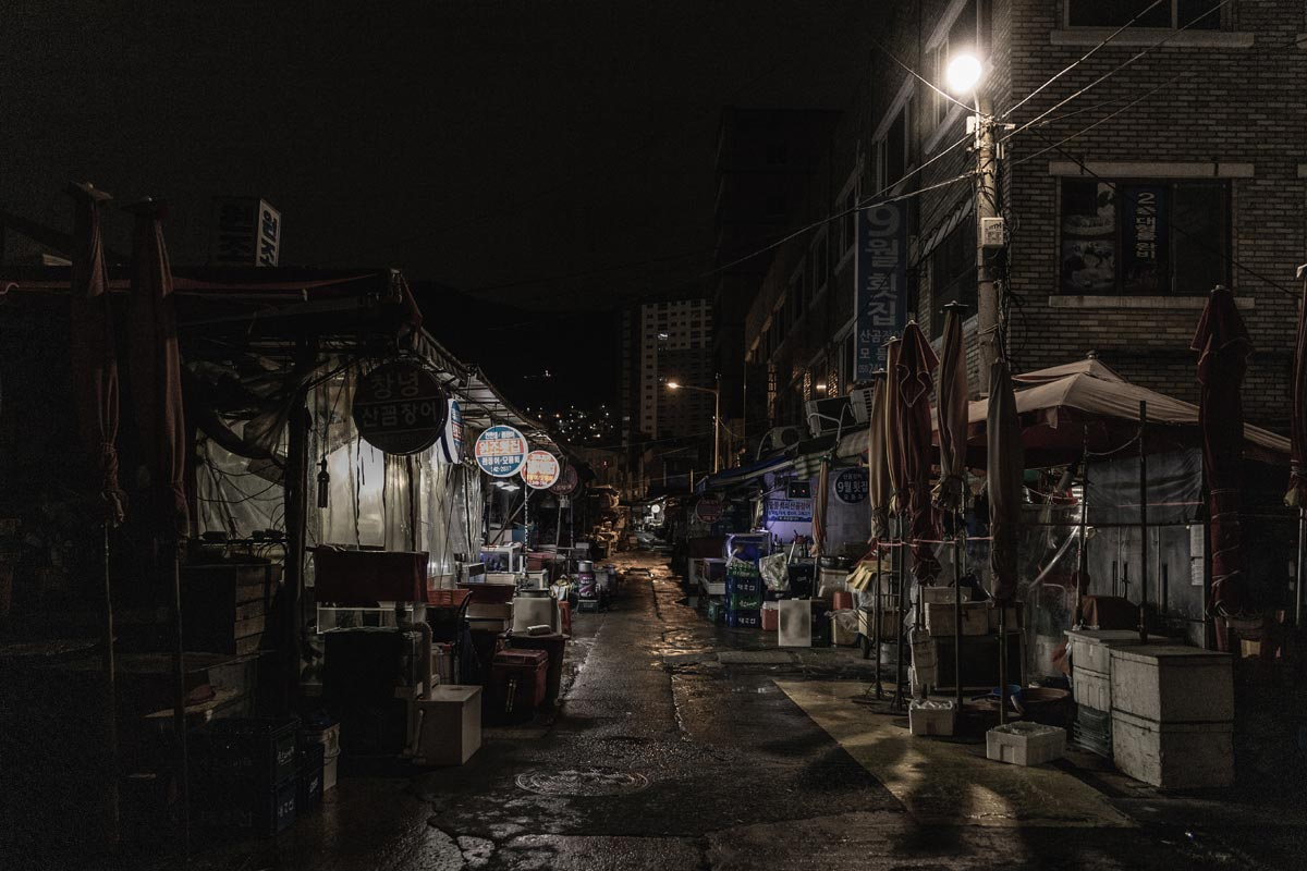 night view bazaar street