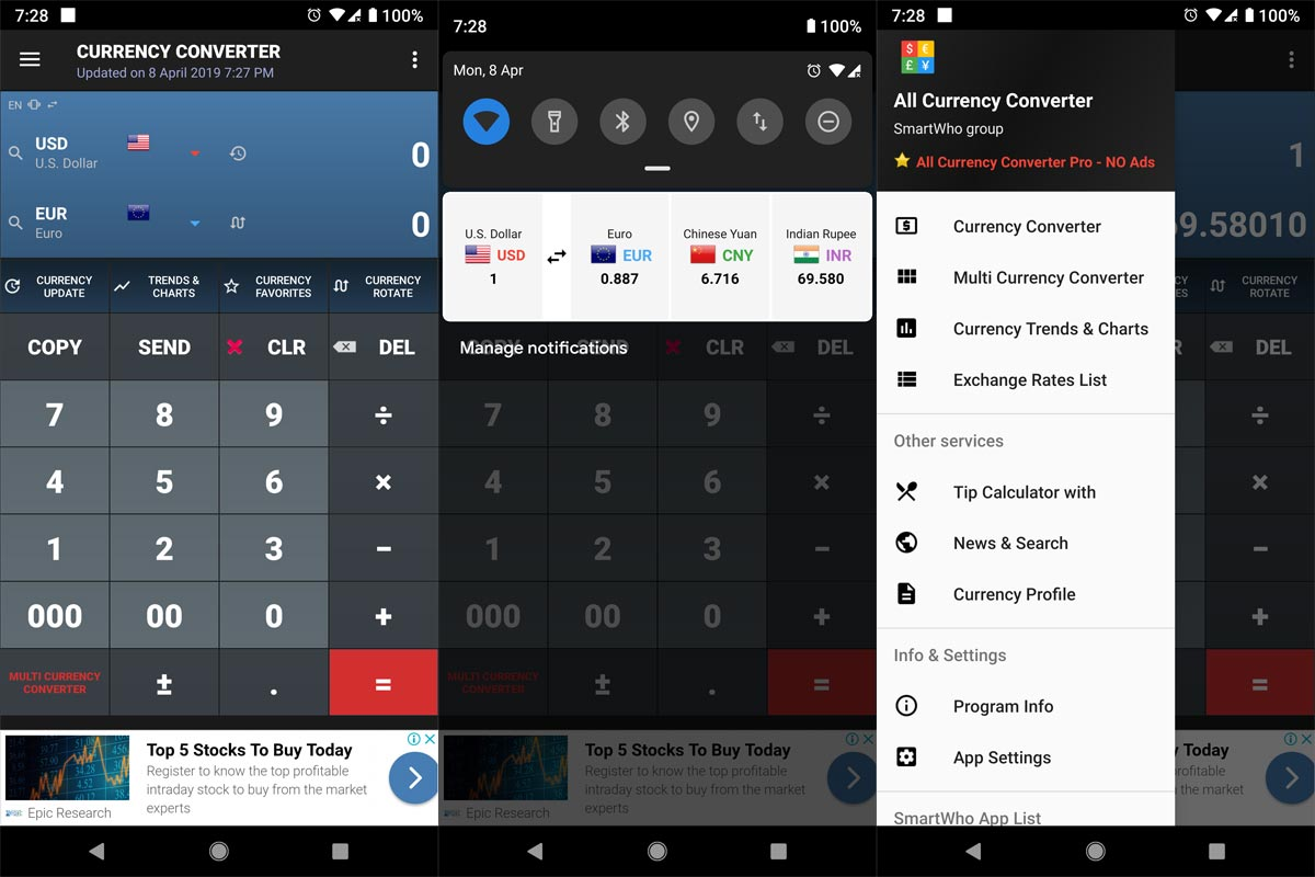 Three Best Currency Converter Apps For Android Mobiles