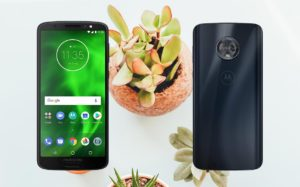 Moto G6 Plus with Small Plants