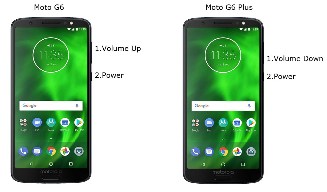 Moto G6 and G6 Plus Download Mode