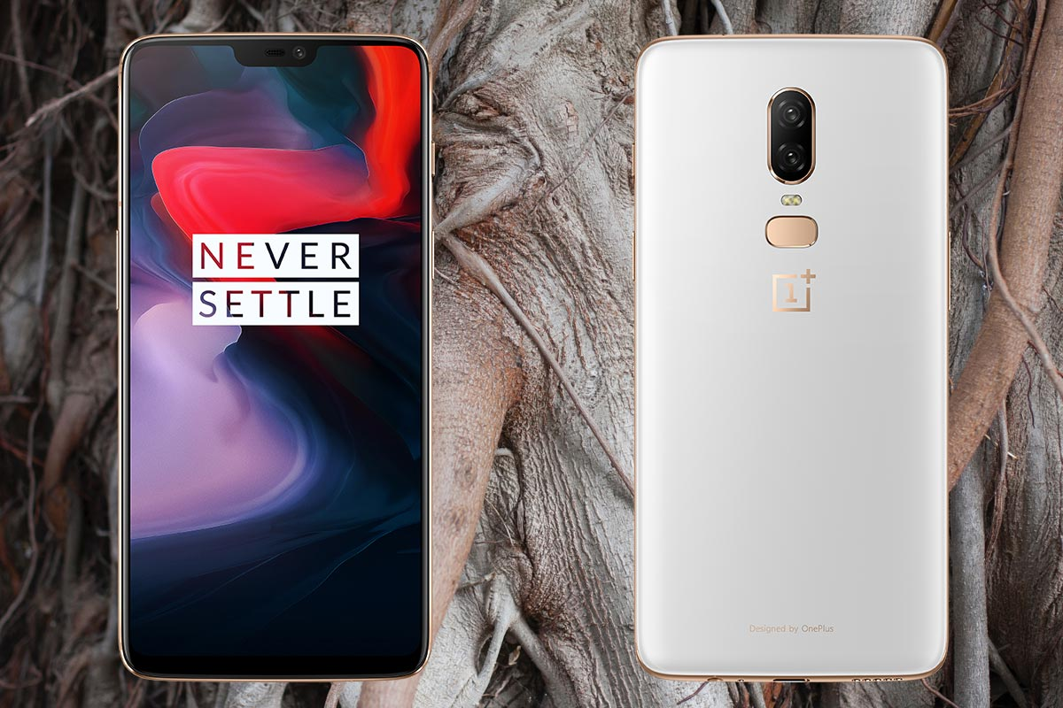 OnePlus 6 with Plant Root Background