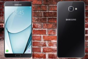 Samsung A9 2016 with Brick Wall Background