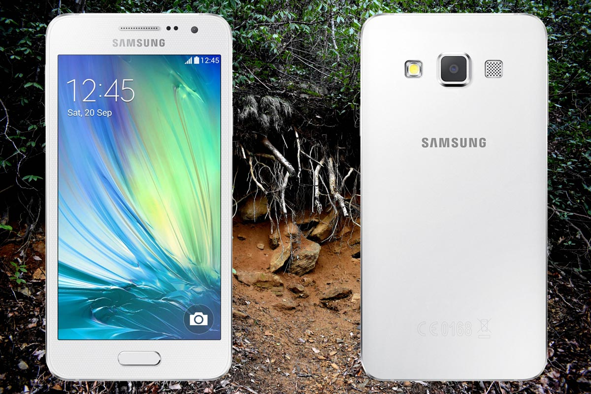 Samsung Galaxy A3 2015 with Nature Background
