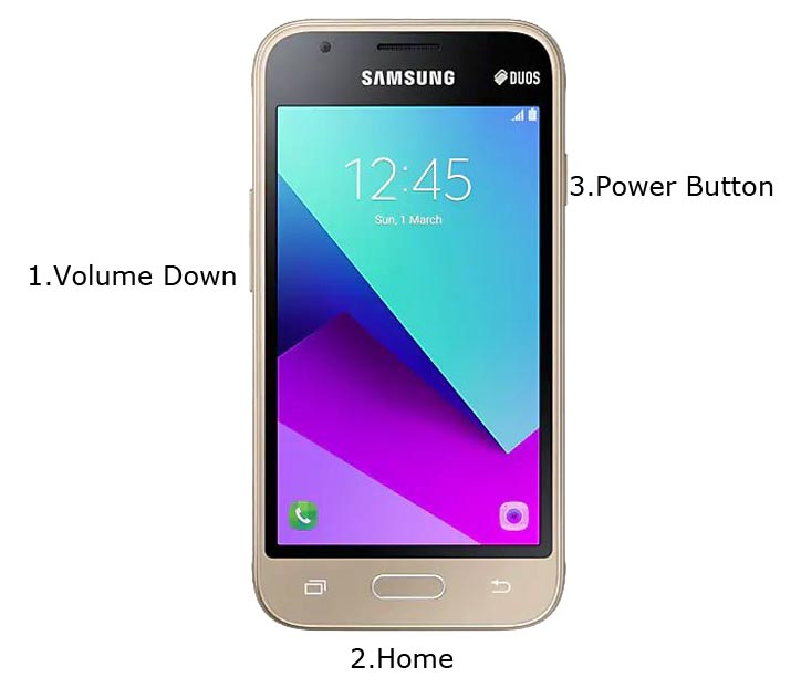 Samsung Galaxy J1 mini prime Download Mode
