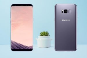Samsung Galaxy S8 Plus with Small Plant