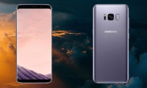 Samsung Galaxy S8 With Sky Cloud Background