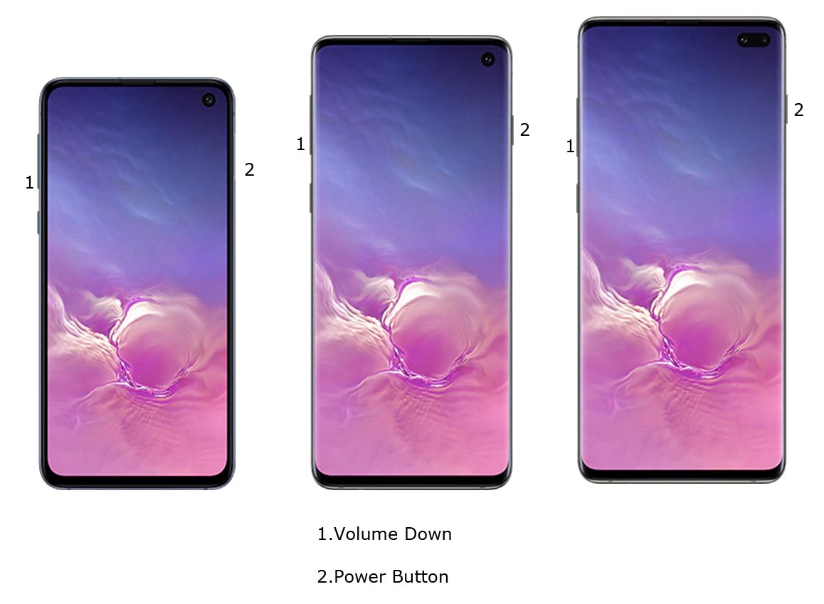Samsung S10 Screenshot Physical Keys
