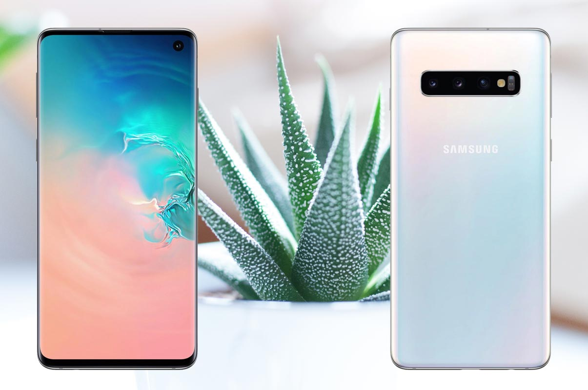Samsung S10 with Plants