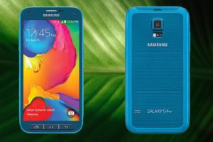 Samsung S5 Sports with Leaf