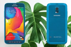 Samsung S5 Sports with Leaf Background