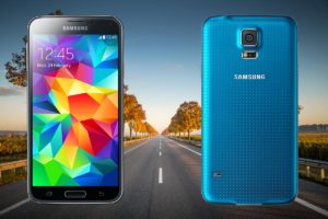 Samsung S5 with Long Road Background