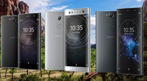 Sony Xperia XA Devices with Forest Background
