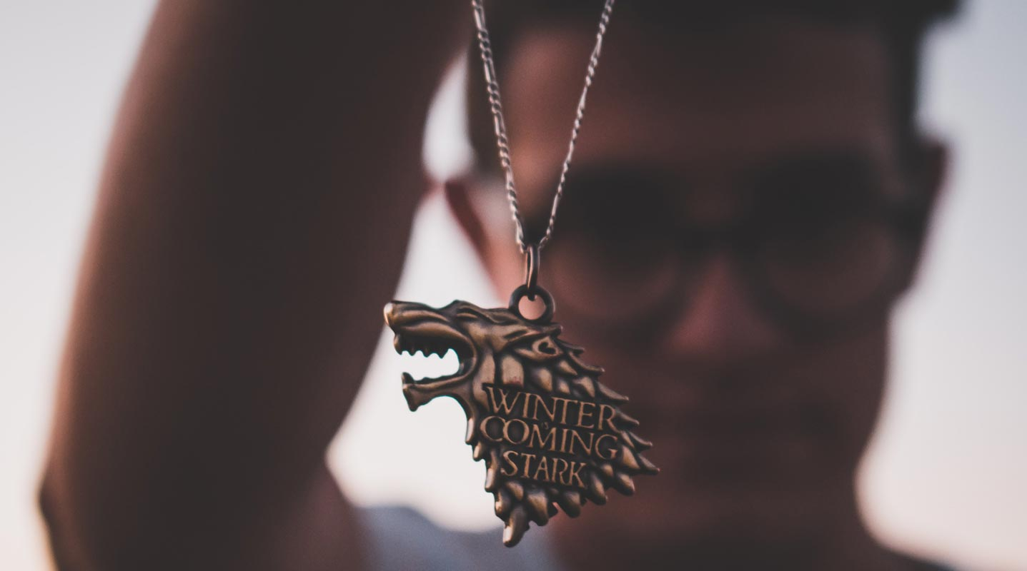 Winter Coming Stark Pendant