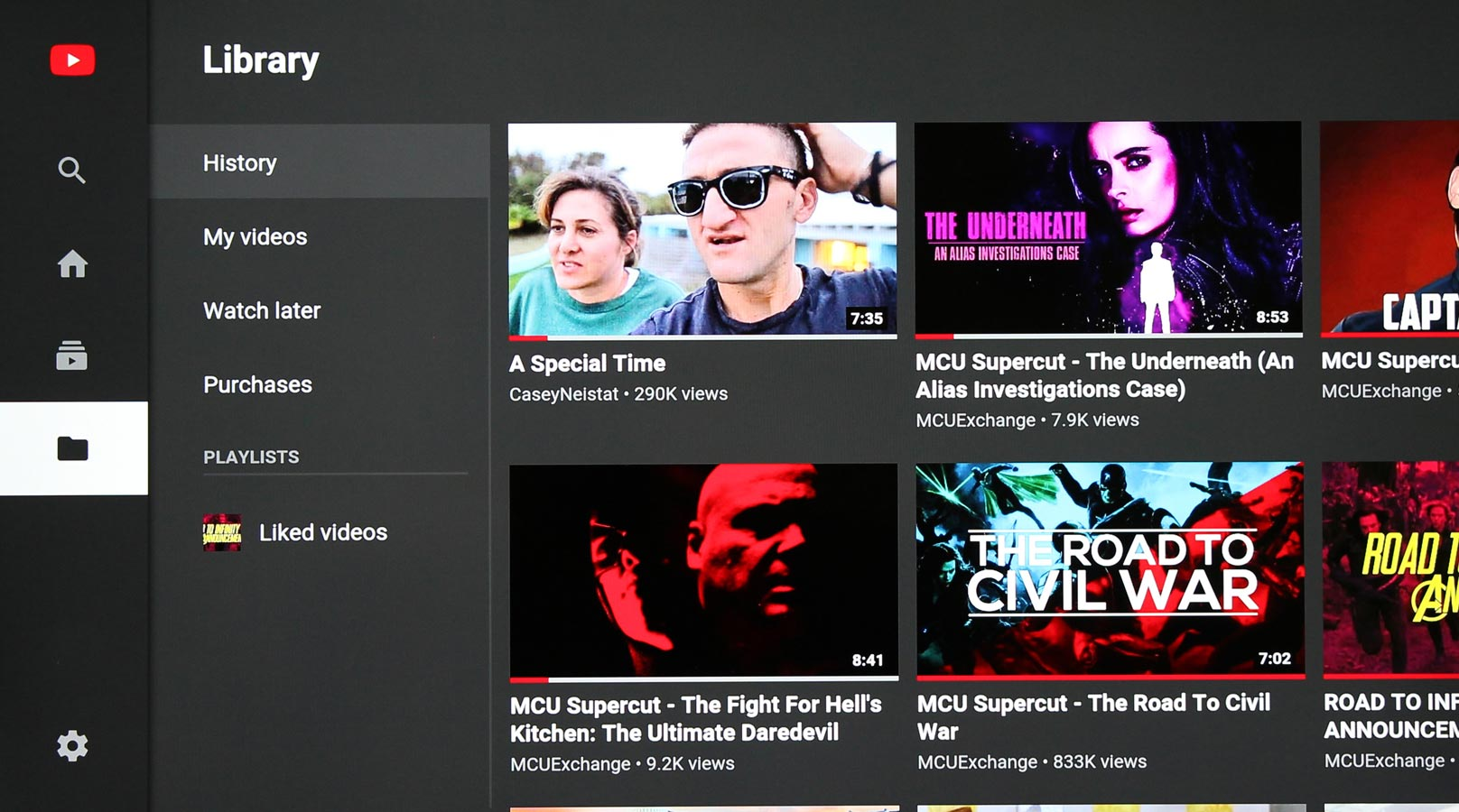 Android YouTube TV