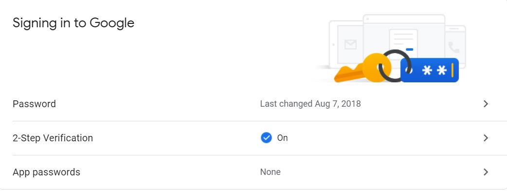 Google Account Two Step Verification