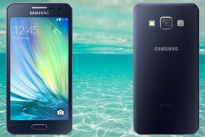 Samsung A3 with Sea Water