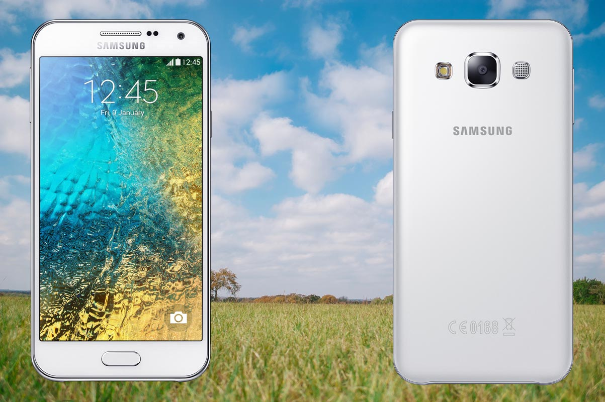 Samsung E5 with Grass Background