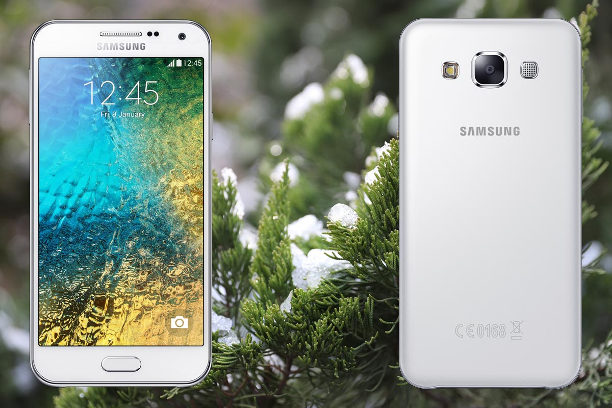 Samsung E5 with Snow Plant Background