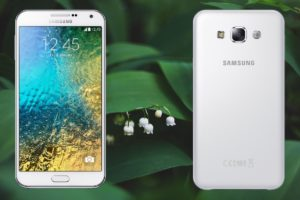 Samsung E7 with Green Plant Background