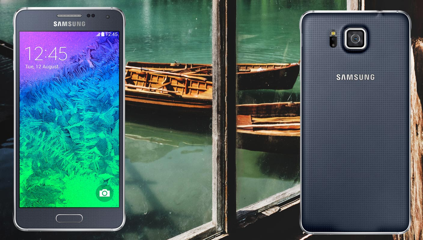 Samsung Galaxy Alpha With Boat Background