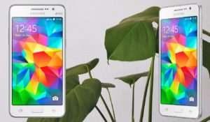 Samsung Galaxy Grand Prime with Leaf Background