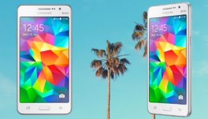 Samsung Galaxy Grand Prime with Palm Tree Background