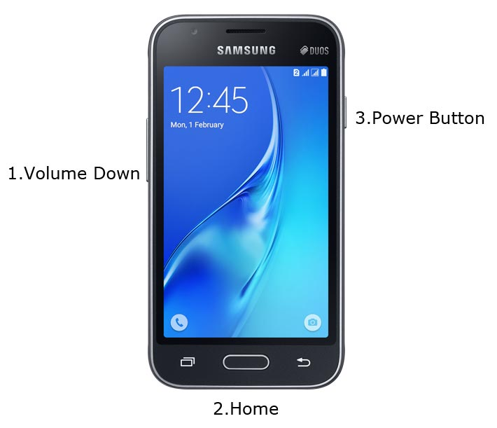 Samsung Galaxy J1 mini Download Mode