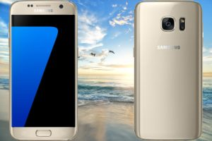 Smasung Galaxy S7 with Beach Background