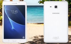 Samsung Galaxy Tab A 7 2016 with Beach Background