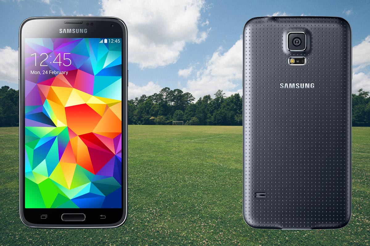 Samsung S5 with Football Ground