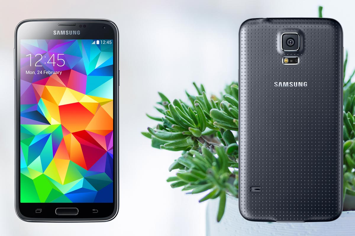 Samsung S5 with Small Plants