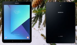 Samsung Tab S3 with Snow Background
