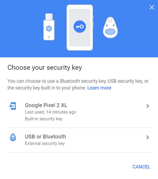 Use Mobile As Security Key