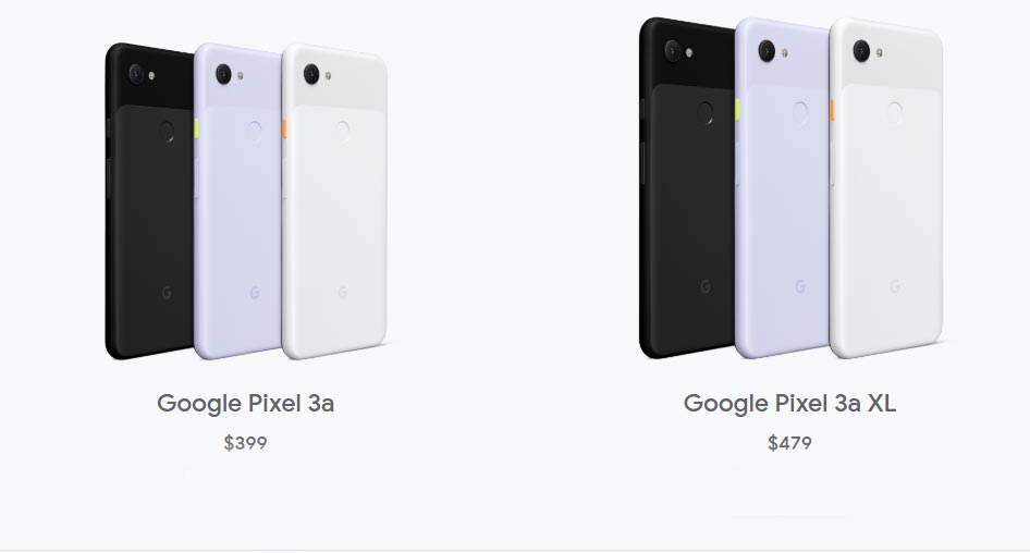 Google Pixel 3a and 3a XL Rate
