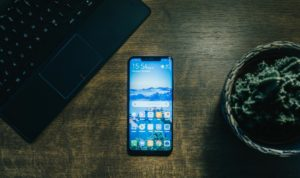 Huawei Phone on the Table