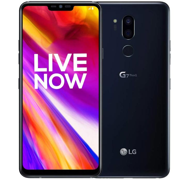 LG G7 ThinQ with White Background