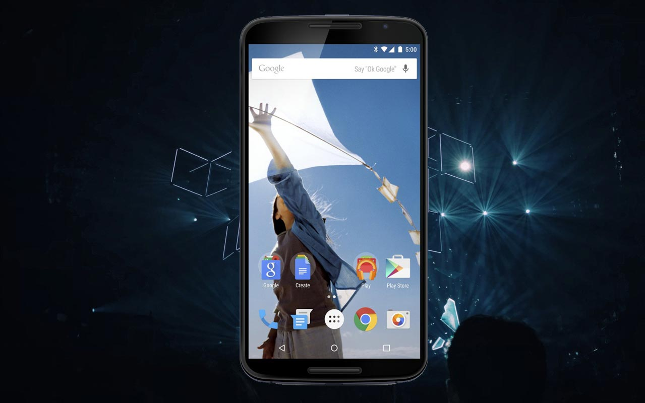 Nexus 6 with Concert Background