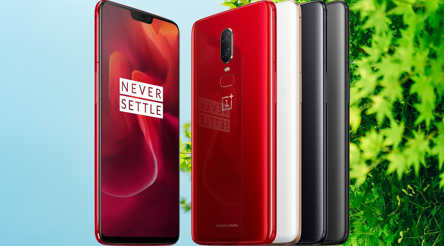 OnePlus 6 with Tree Branch Background