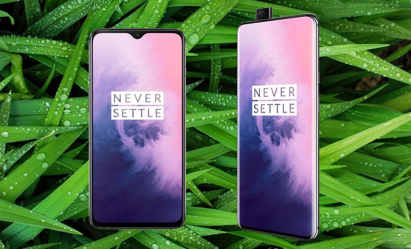 OnePlus 7 and OnePlus 7 Pro with Grass Background